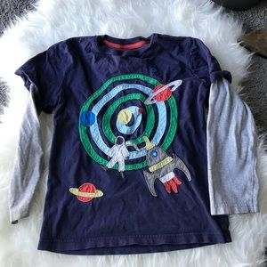Mini Boden  Boys Outer space Long Sleeve T 6/7